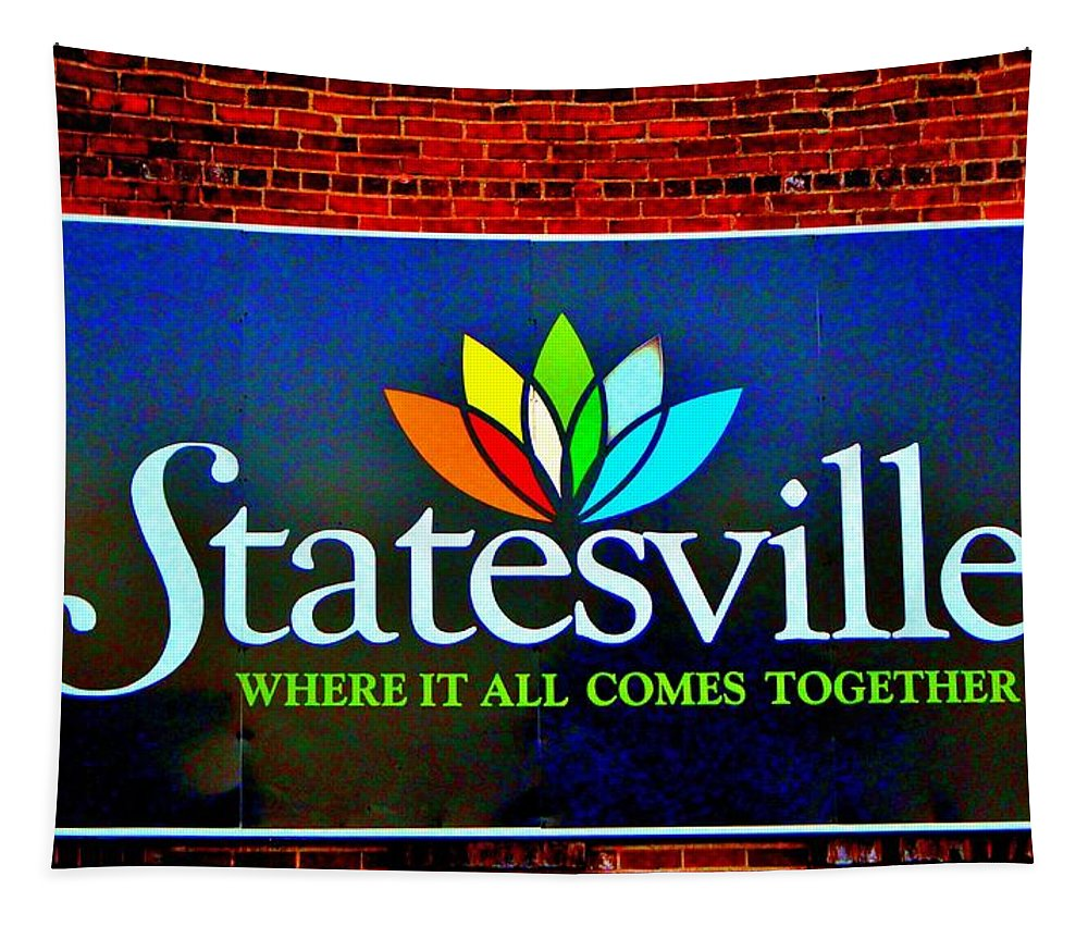 Hometown Tapestry featuring the photograph Hometown Street Art by Cynthia Guinn