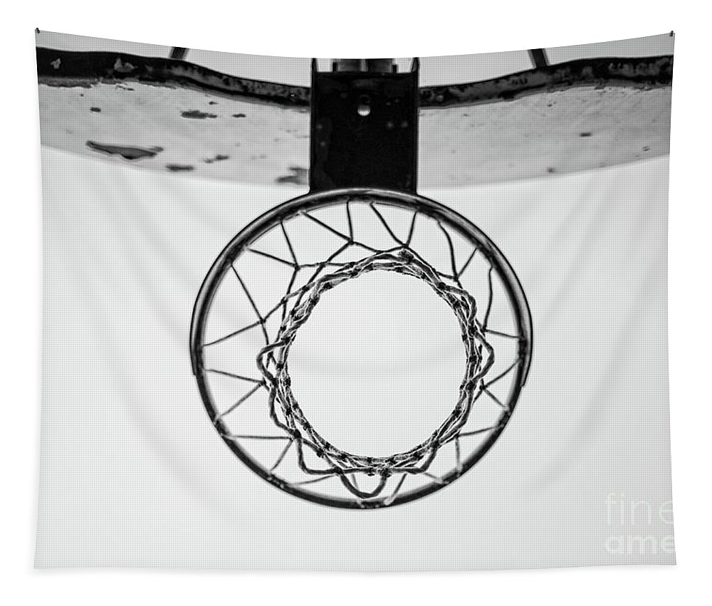 Basketball Tapestry featuring the photograph Hoop Dreams by Edward Fielding