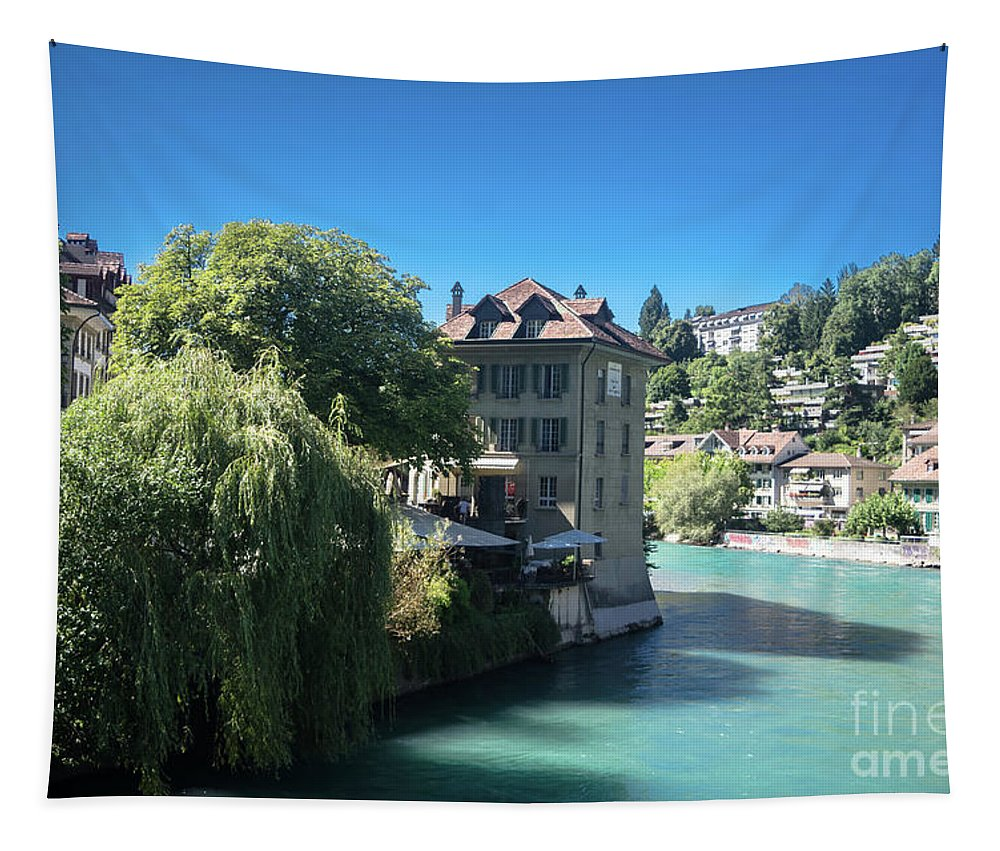 Michelle Meenawong Tapestry featuring the photograph hot summer afternoon in Bern by Michelle Meenawong