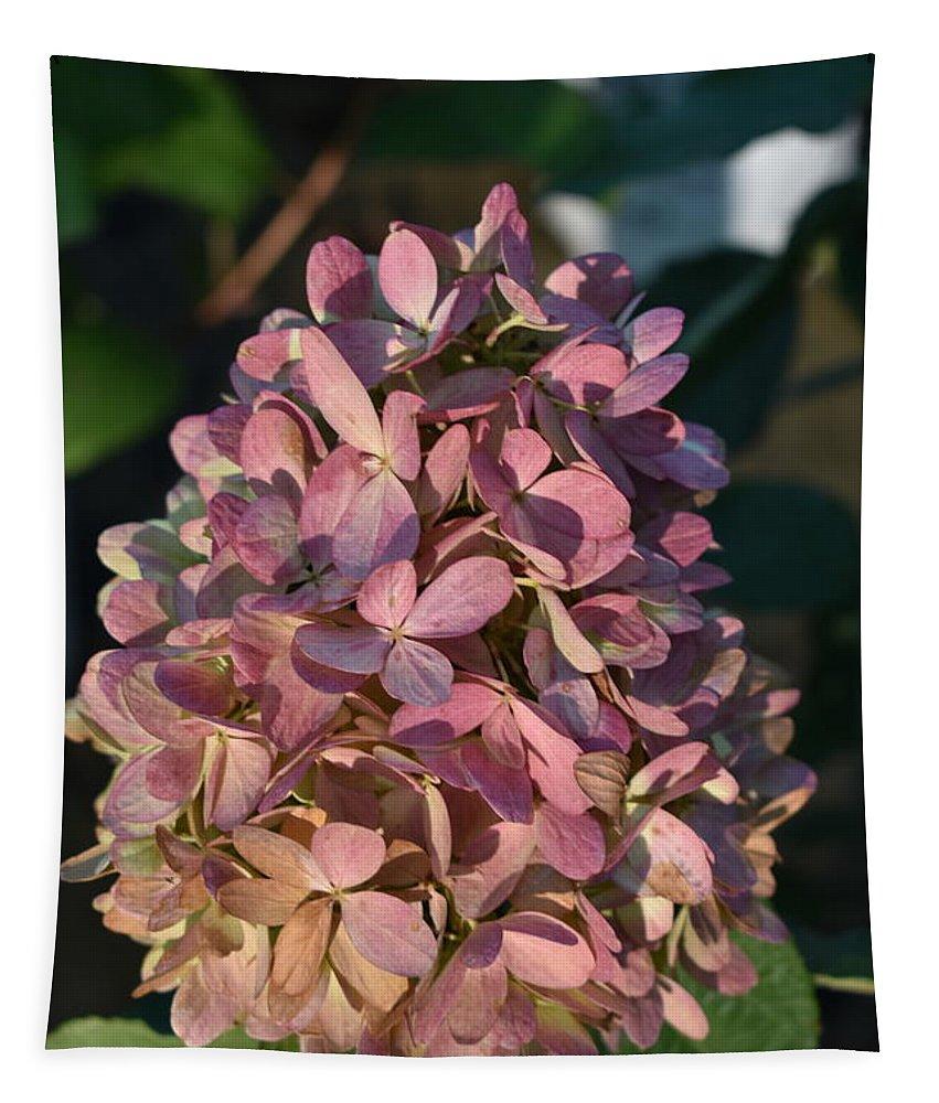 Flower Tapestry featuring the digital art Hydrangea by Yenni Harrison