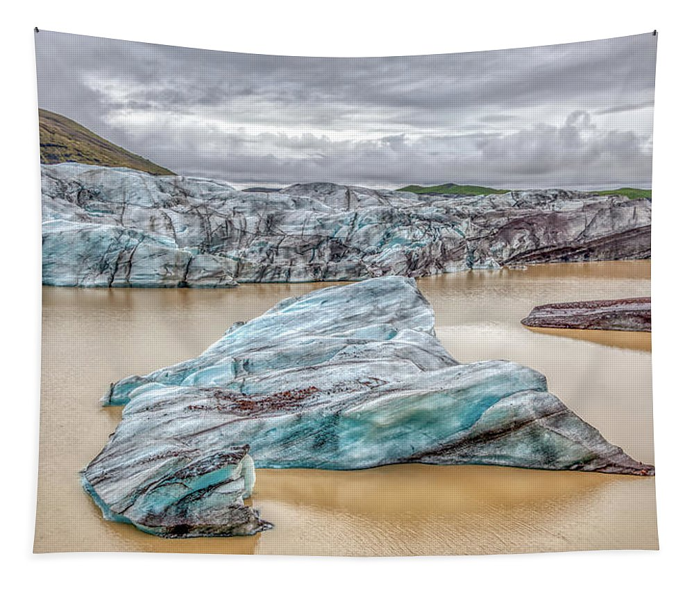 Iceberg Tapestry featuring the photograph Iceberg Of Iceland by David Letts