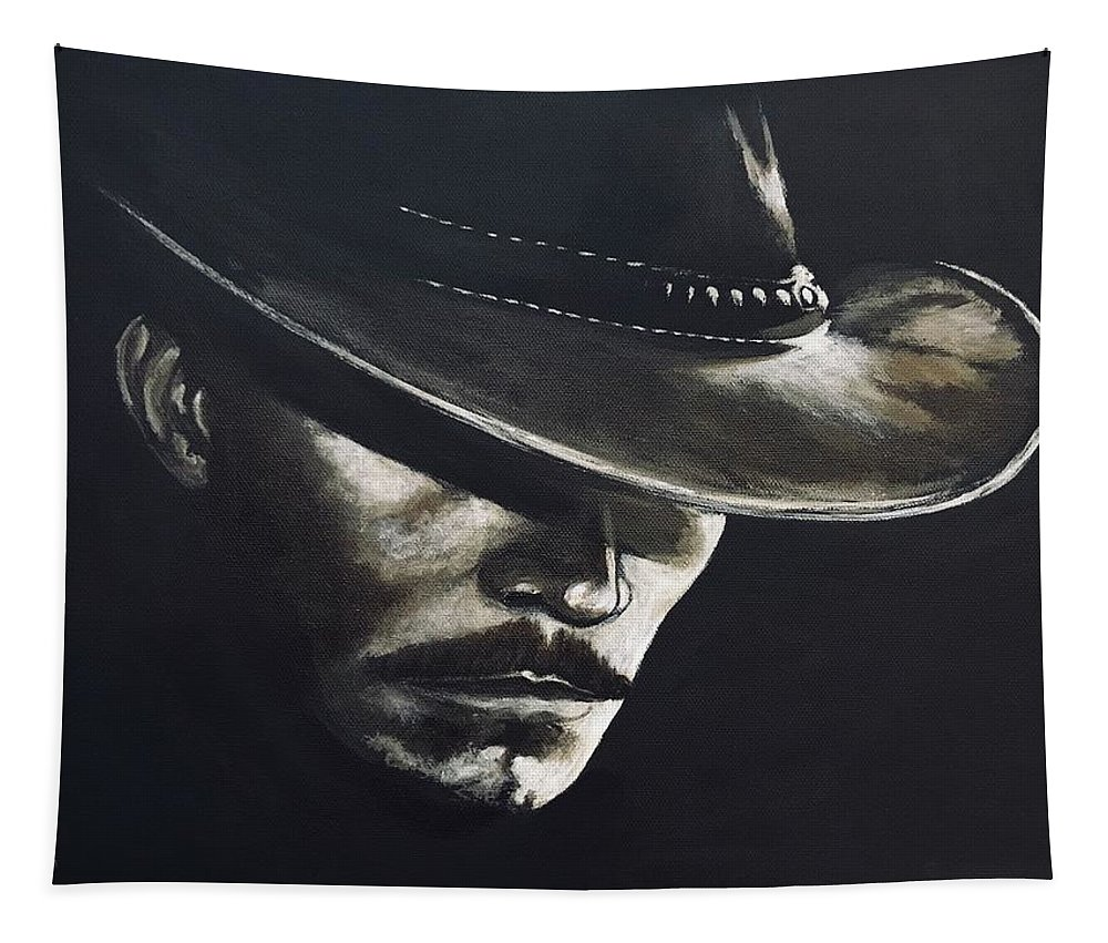 Acrylic Tapestry featuring the painting I'm Your Huckleberry by Alana Judah