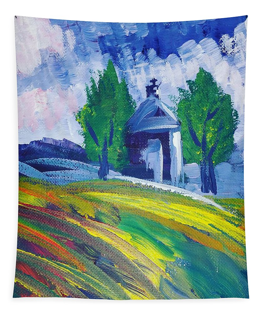 Acrylic Tapestry featuring the painting Impression by Paola Baroni