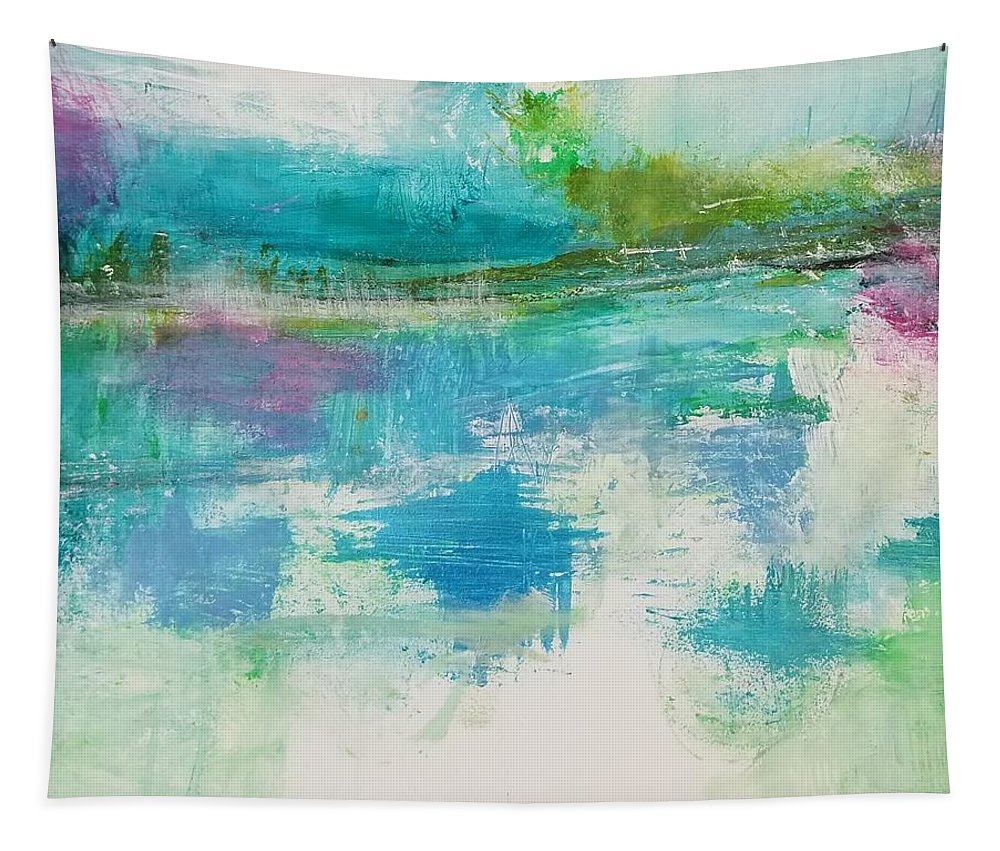 Abstract Tapestry featuring the painting In the Now by Patricia Byron