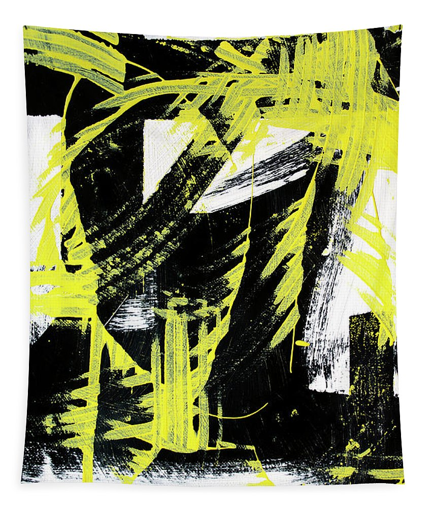 Industrial Tapestry featuring the painting Industrial Abstract Painting II by Christina Rollo