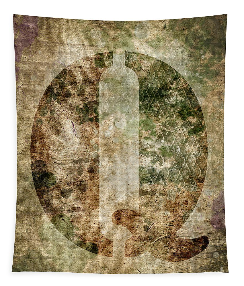 Letter Tapestry featuring the photograph Industrial Letter Q by Delphimages Photo Creations