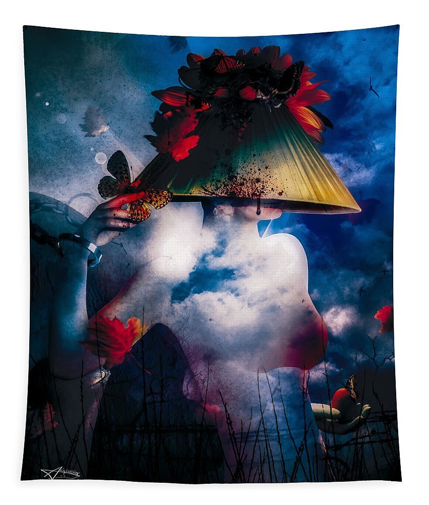 Gothic Tapestry featuring the digital art Interlude by Mario Sanchez Nevado