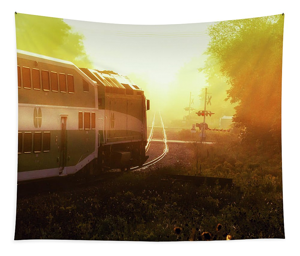 Landscape Tapestry featuring the photograph Into The Light by Robert Alsop