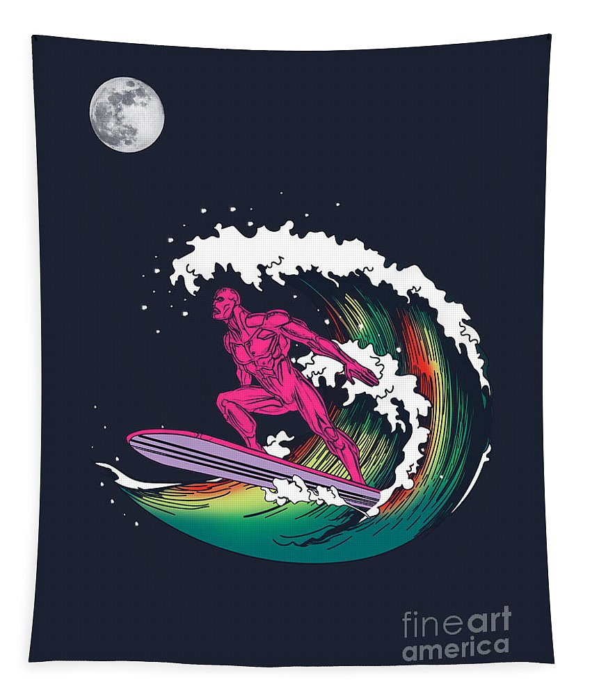 Humor Tapestry featuring the digital art Iron Wave by Mark Ashkenazi