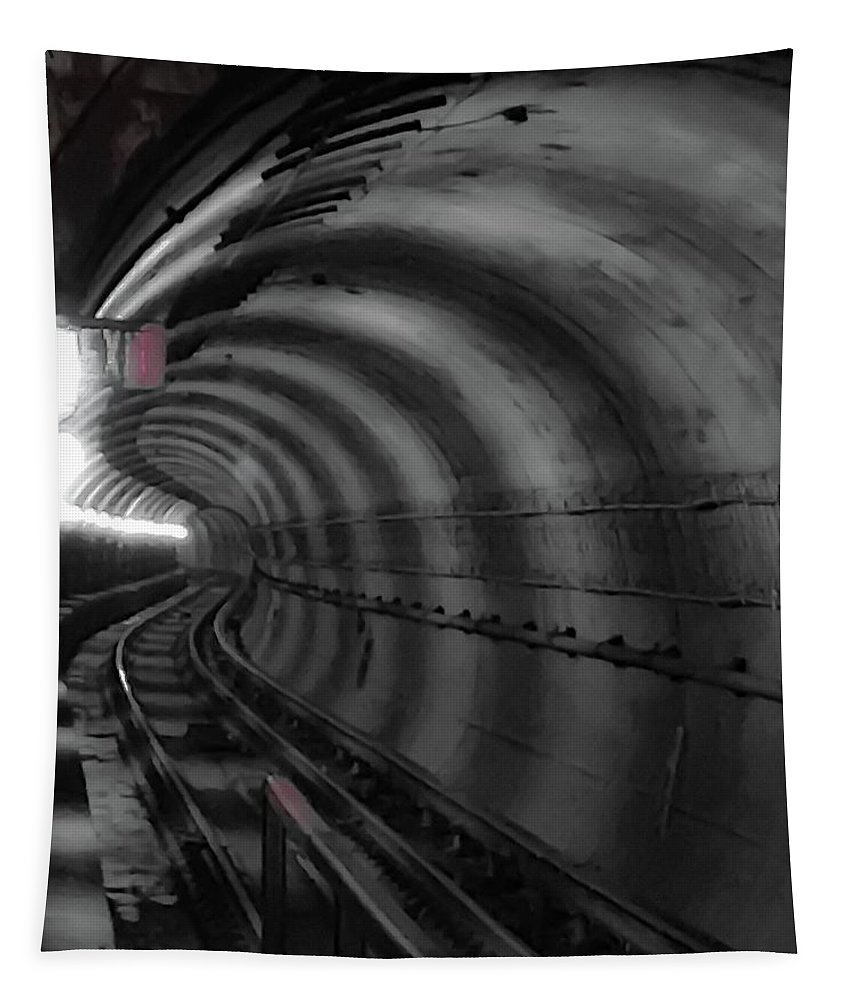 Metro Tapestry featuring the photograph Just Around The Bend by Lora J Wilson