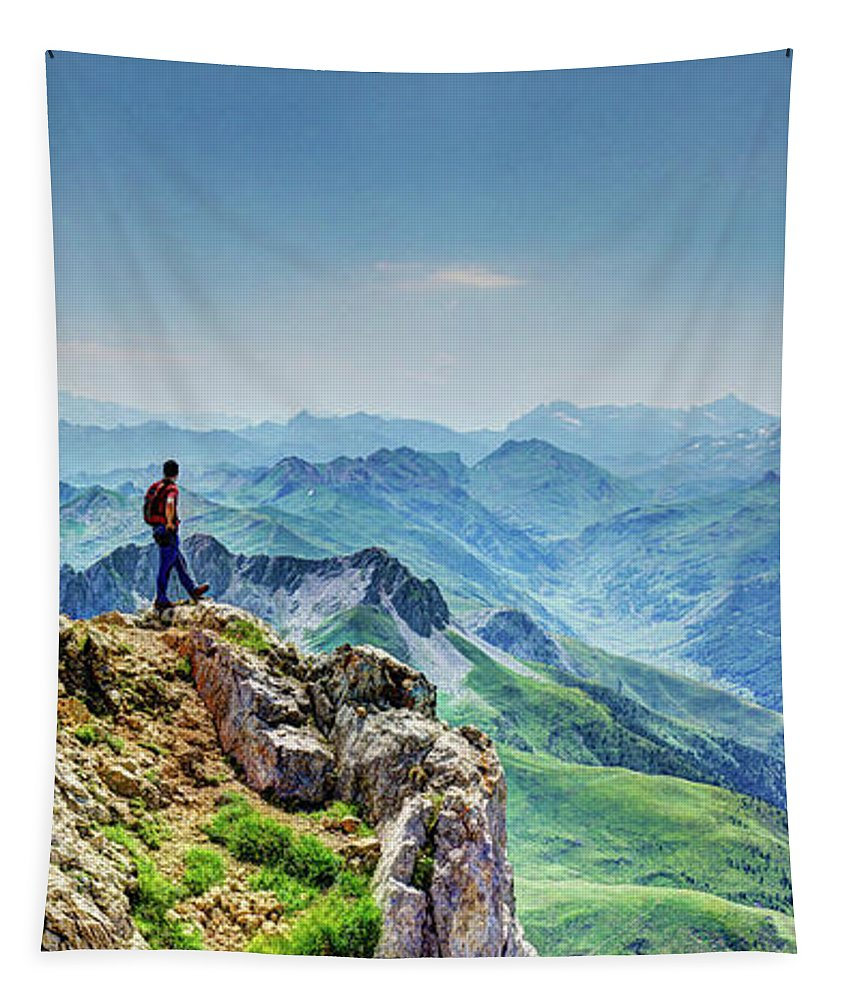Mountain Tapestry featuring the photograph Just Breathe by Weston Westmoreland