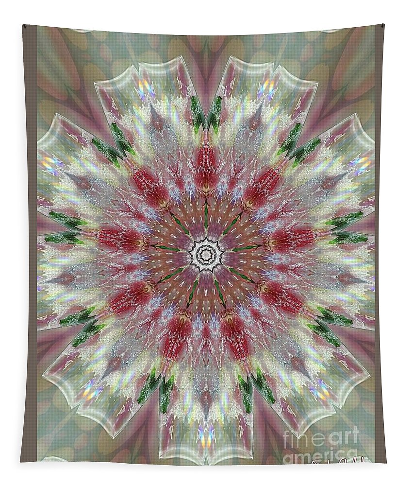 Valentine Tapestry featuring the digital art Kaleidoscope Valentine by Linda Galok