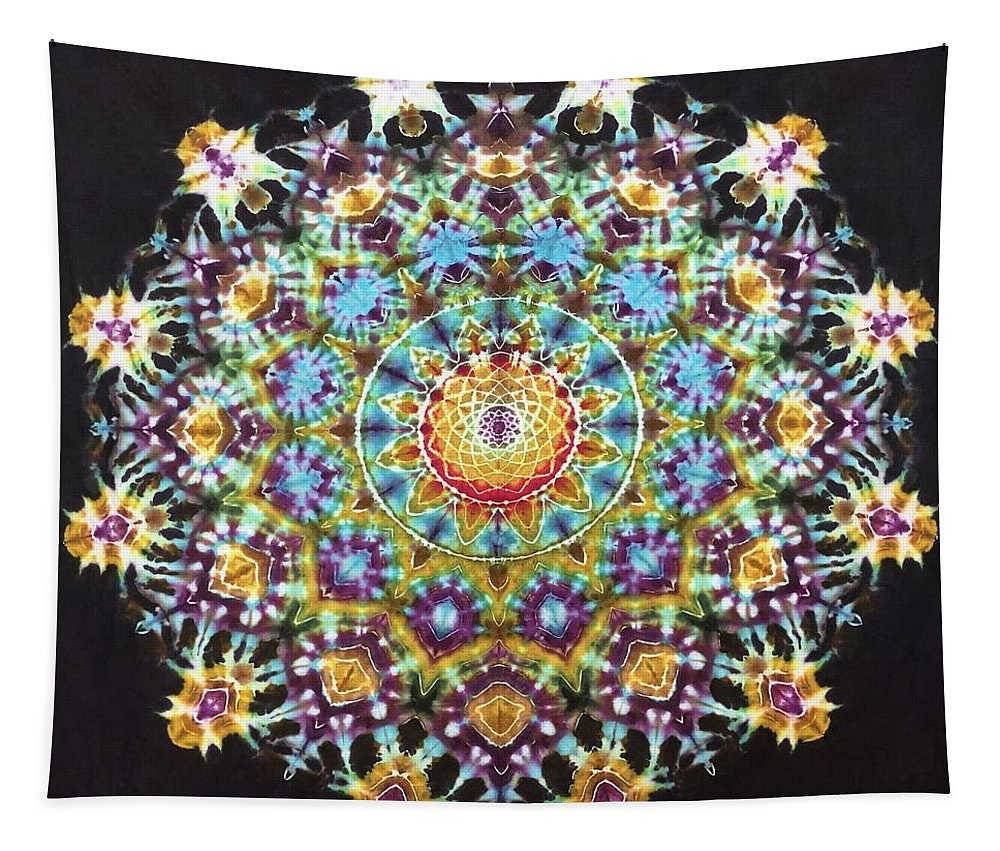 Rob Norwood Ice Dyed Tapestries Tie Dye Psychedelic Art Tapestry featuring the digital art Keiths Tap by Rob Norwood