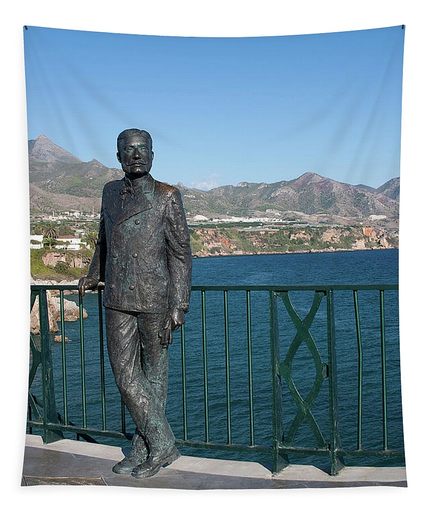 Nerja Tapestry featuring the photograph King Alfonso Xii by John Edwards