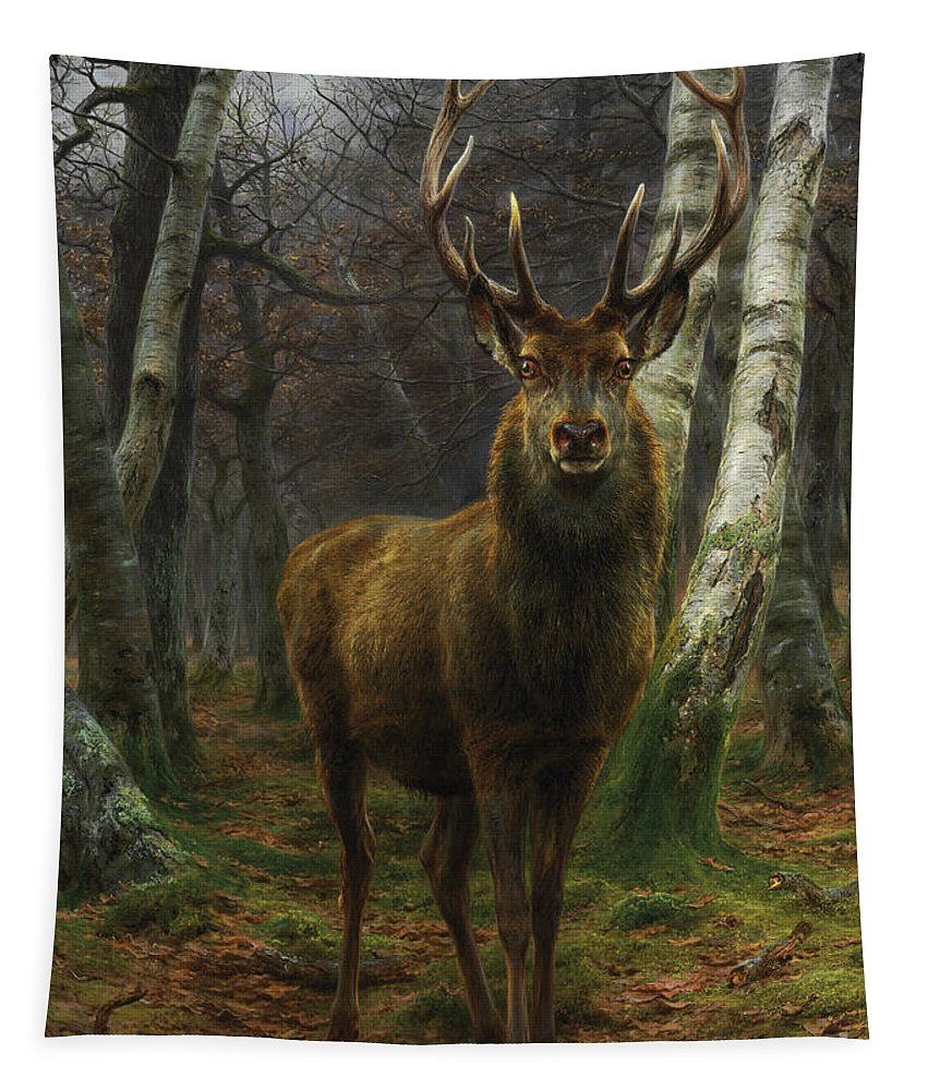 Rosa Bonheur Tapestry featuring the painting King Of The Forest by Rosa Bonheur