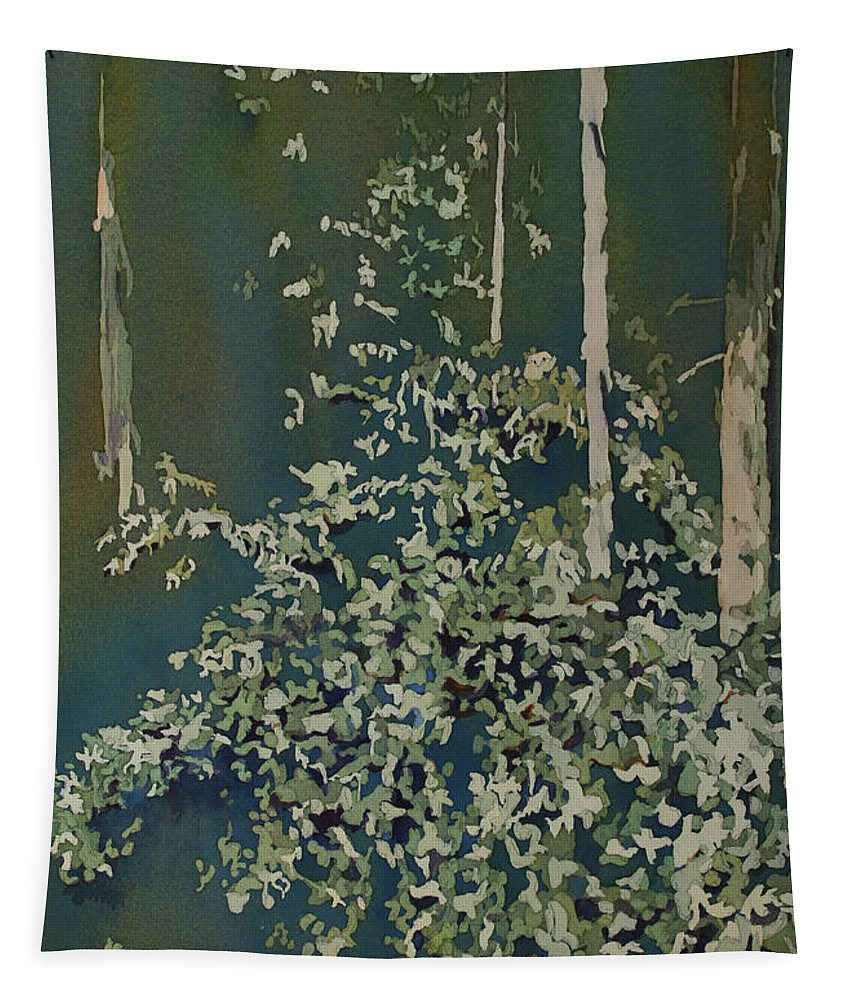 Forest Tapestry featuring the painting Lacy Edge by Jenny Armitage