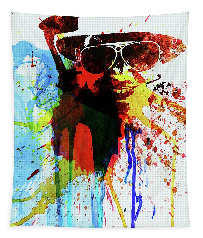 Johnny Depp Tapestry featuring the photograph Legendary Fear And Loathing Watercolor by Naxart Studio