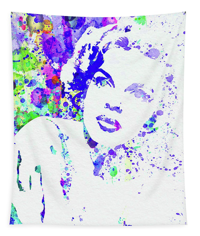 Judy Garland Tapestry featuring the mixed media Legendary Judy Garland Watercolor I by Naxart Studio