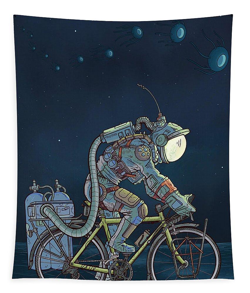 Digitalart Tapestry featuring the digital art LFT, -260 Degrees by EvanArt - Evan Miller