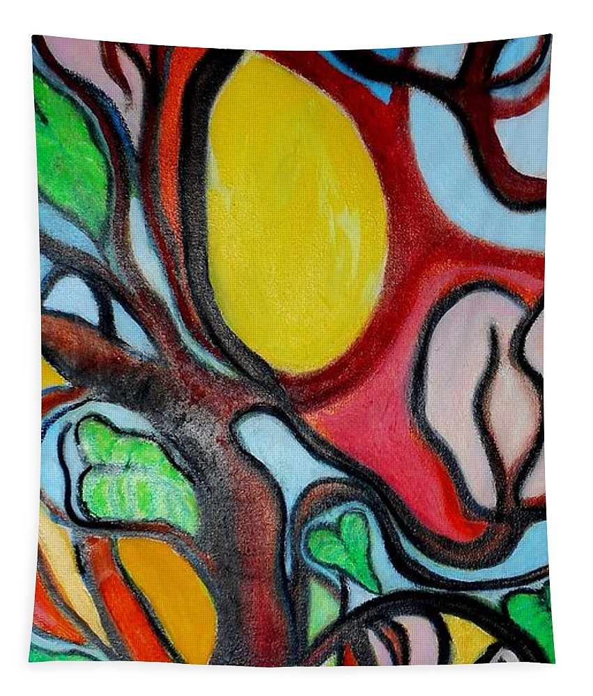 Tree Limbs Tapestry featuring the painting Limbs by Ronald Oliver