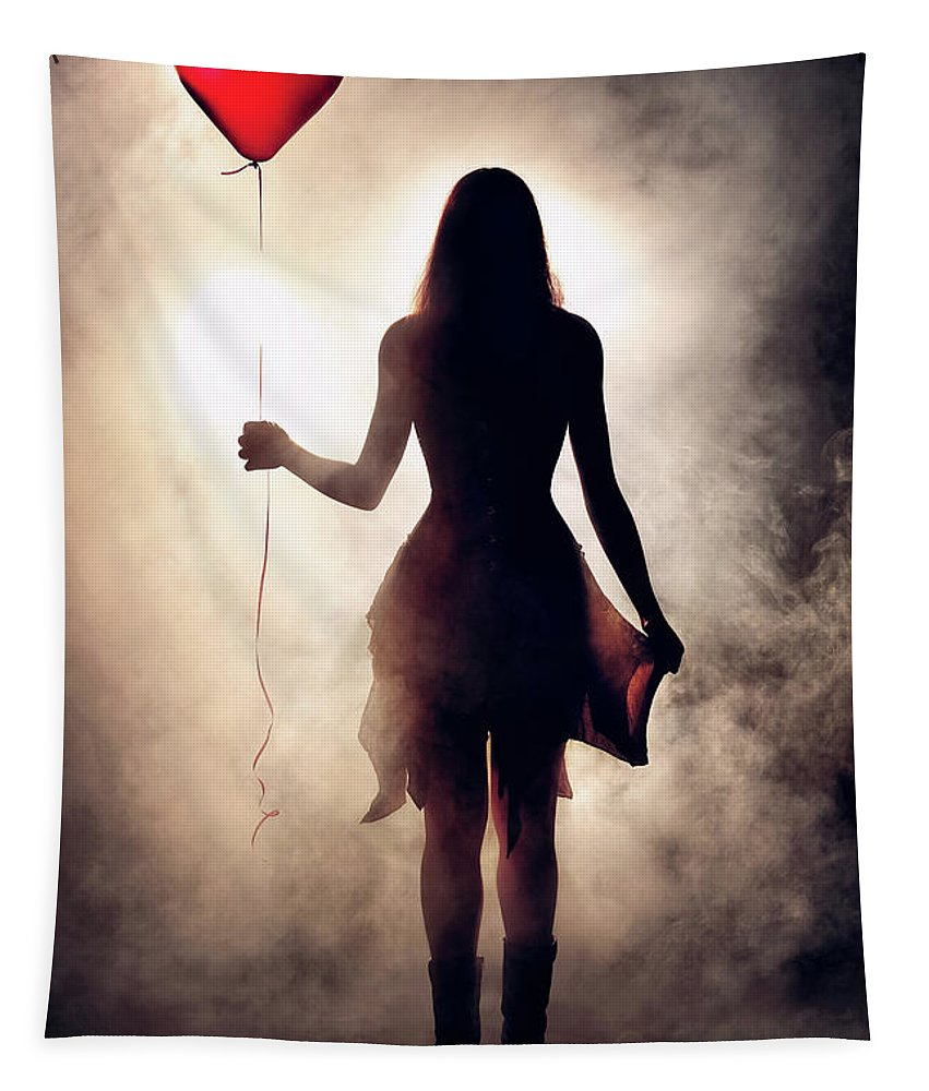 Girl Tapestry featuring the photograph Lonely Heart by Johan Swanepoel