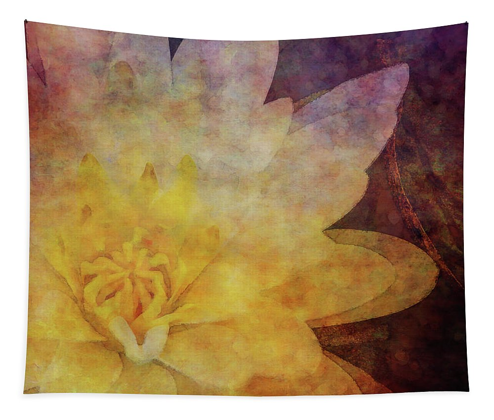Impressionist Tapestry featuring the photograph Lotus 4166 Idp_2 by Steven Ward