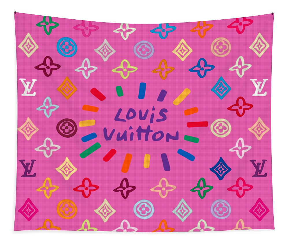 Lv Tapestry featuring the painting Louis Vuitton Monogram-9 by Nikita