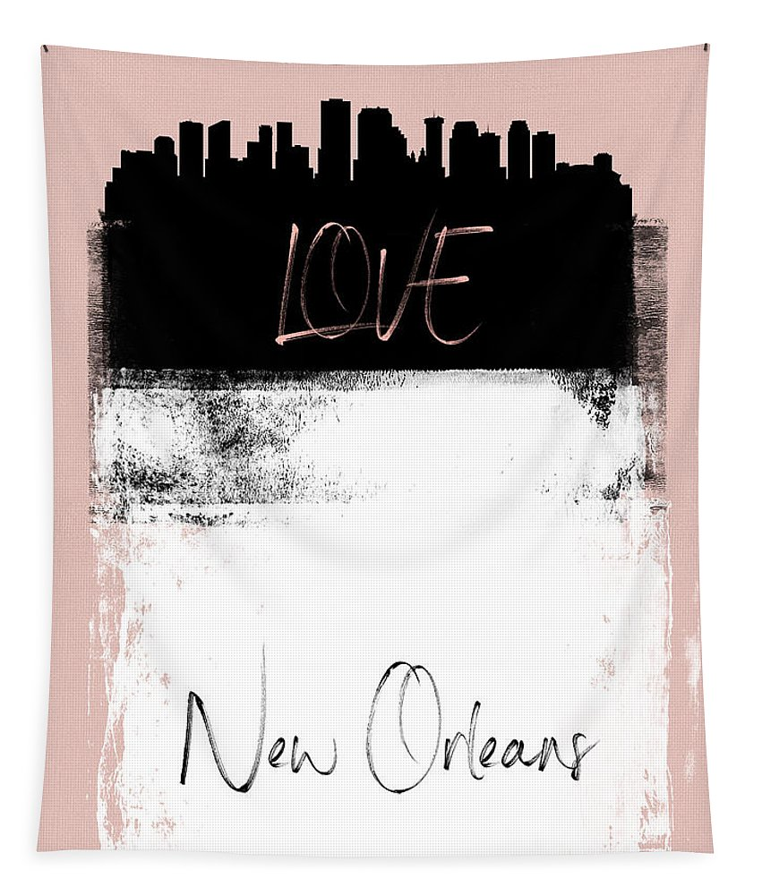 New Orleans Tapestry featuring the mixed media Love New Orleans by Naxart Studio