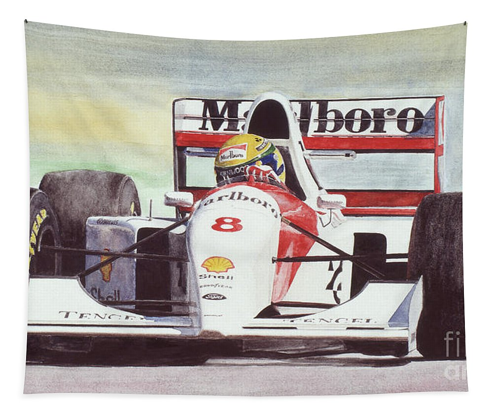 Formula One Tapestry featuring the painting Memories And Feelings by Oleg Konin