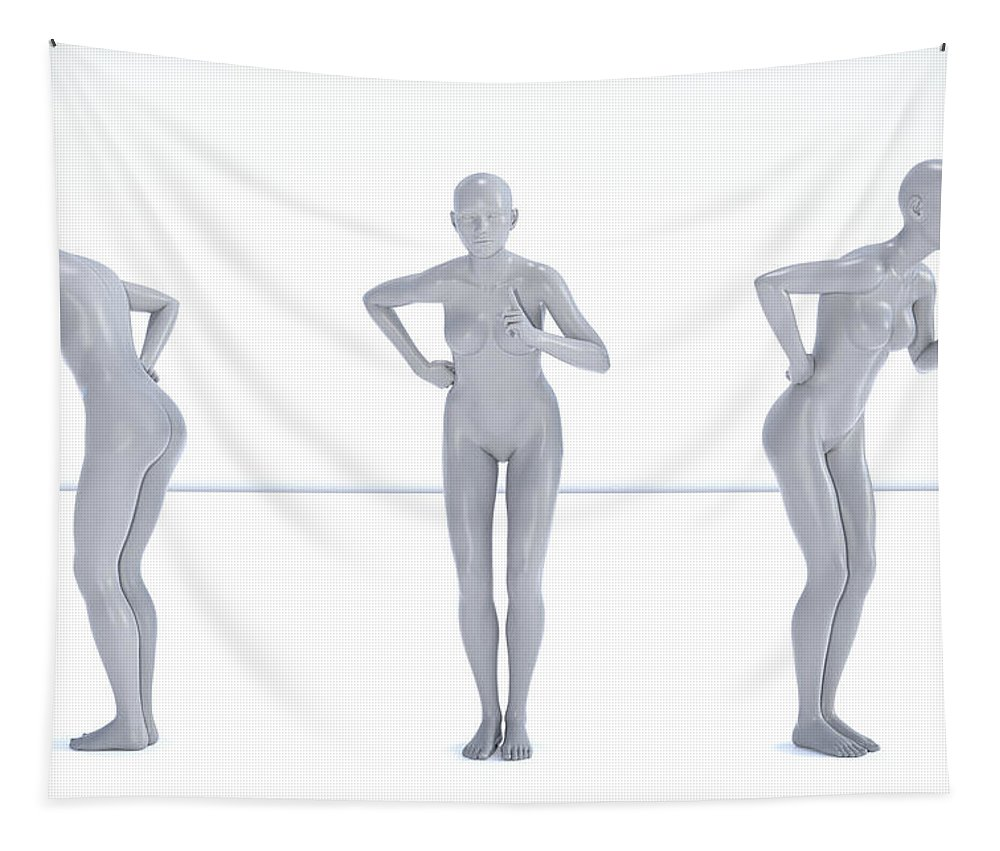Human Tapestry featuring the digital art Models 001 by Betsy Knapp