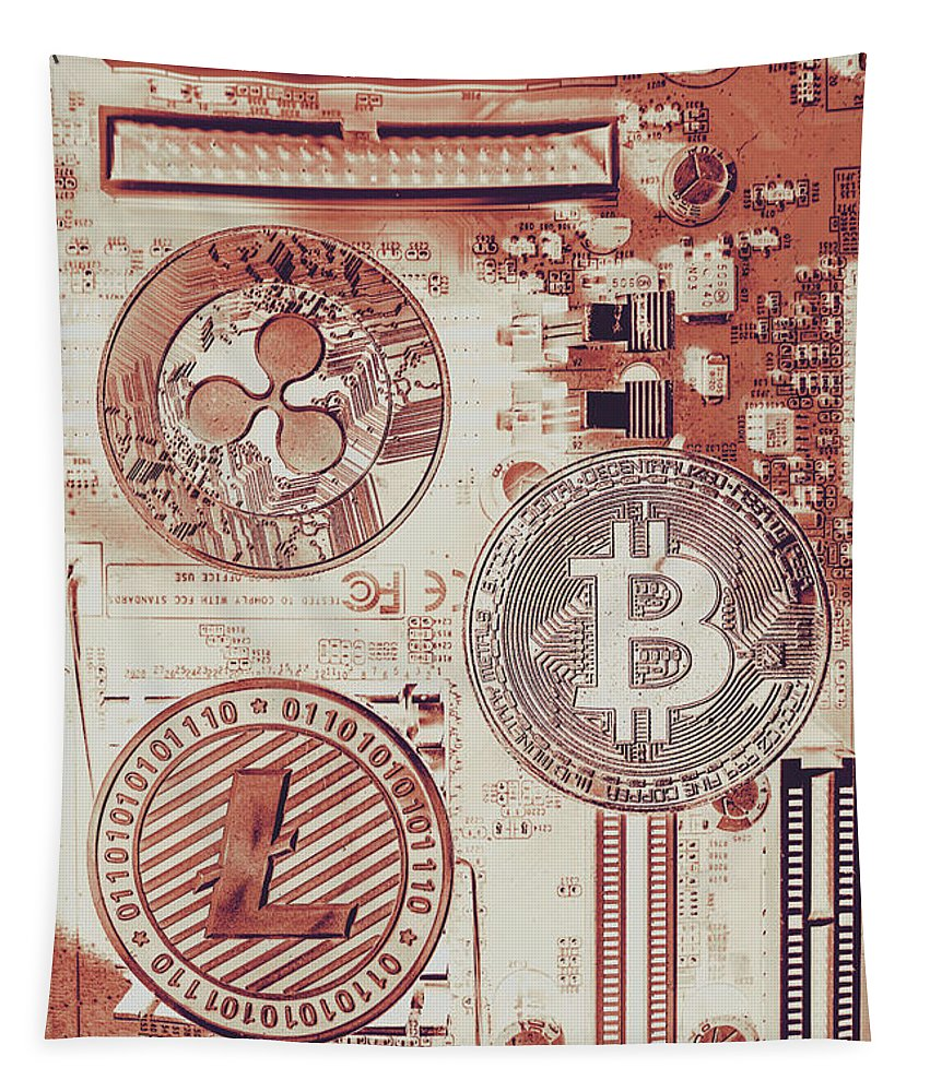 Technology Tapestry featuring the photograph Motherboard Money by Jorgo Photography - Wall Art Gallery