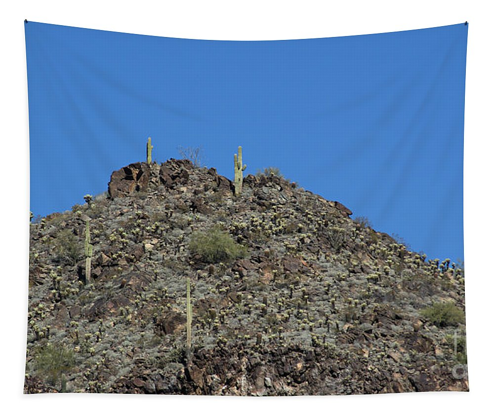 Mountain Tapestry featuring the photograph Mountain Peak In Arizona by Darryl Treon