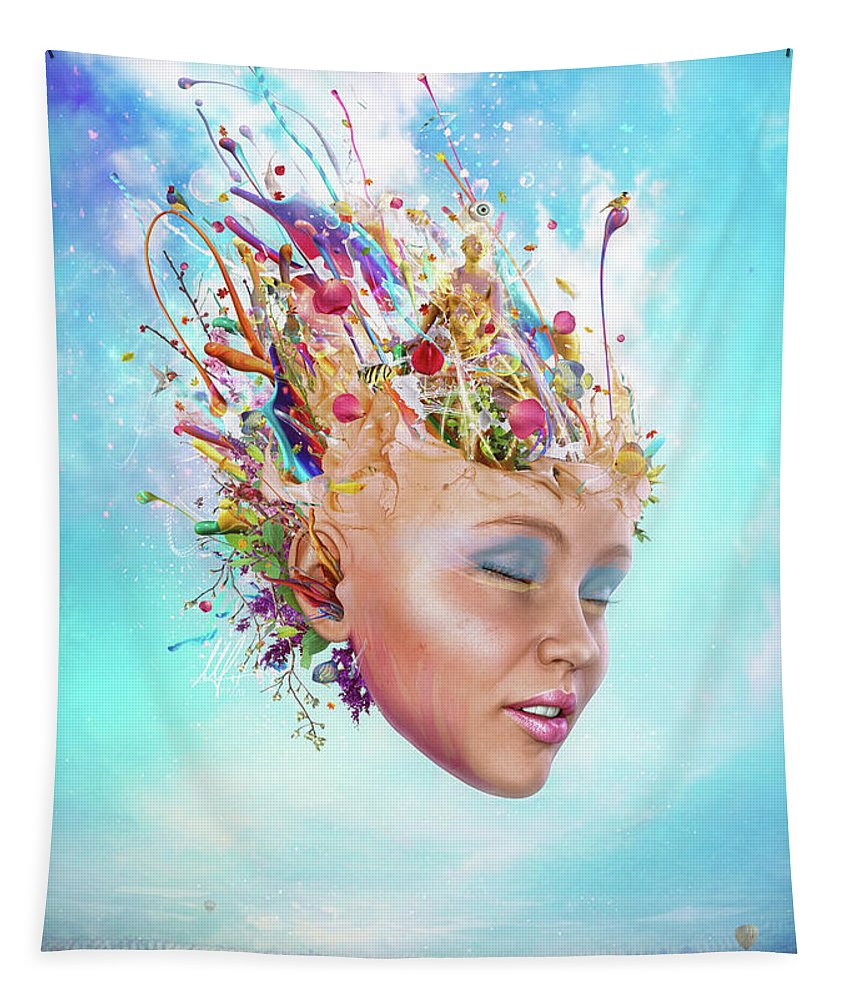 Muse Tapestry featuring the digital art Muse by Mario Sanchez Nevado