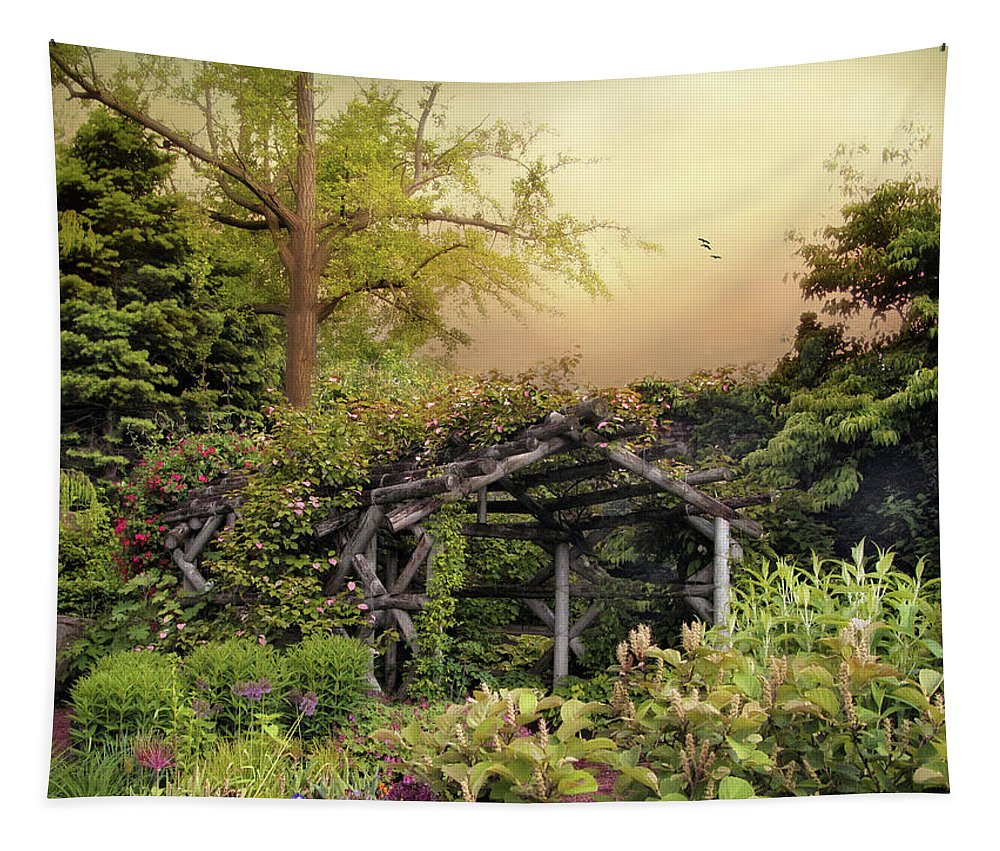 Arbor Tapestry featuring the photograph Mystical Arbor by Jessica Jenney