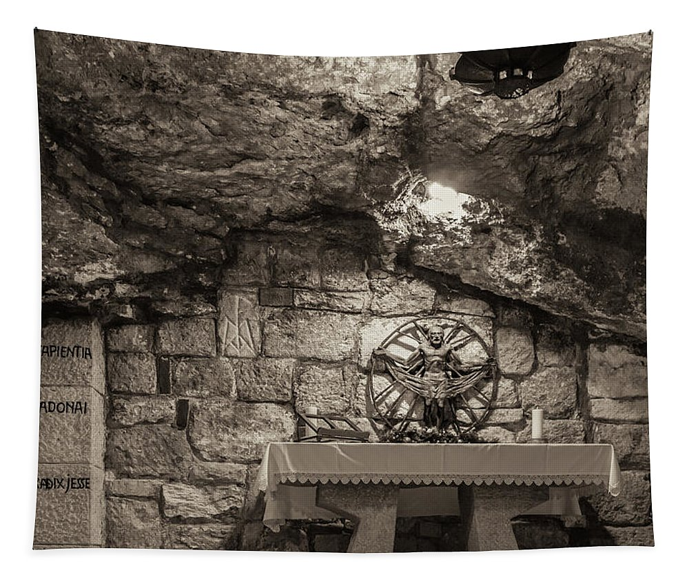 Ancient Tapestry featuring the photograph Nativity Cave by Sean O'Cairde