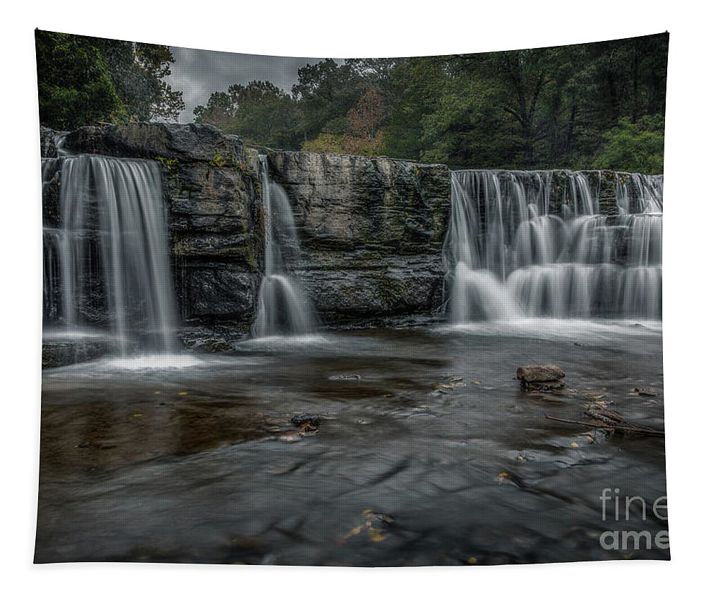 Landscape Tapestry featuring the photograph Natural Dam 2018 1 by Larry McMahon