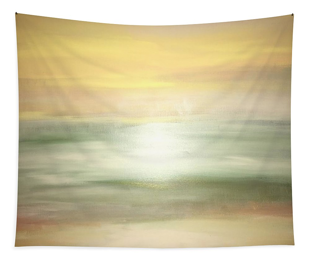 Yellow Tapestry featuring the painting New Horizons 2b by Robin Gill