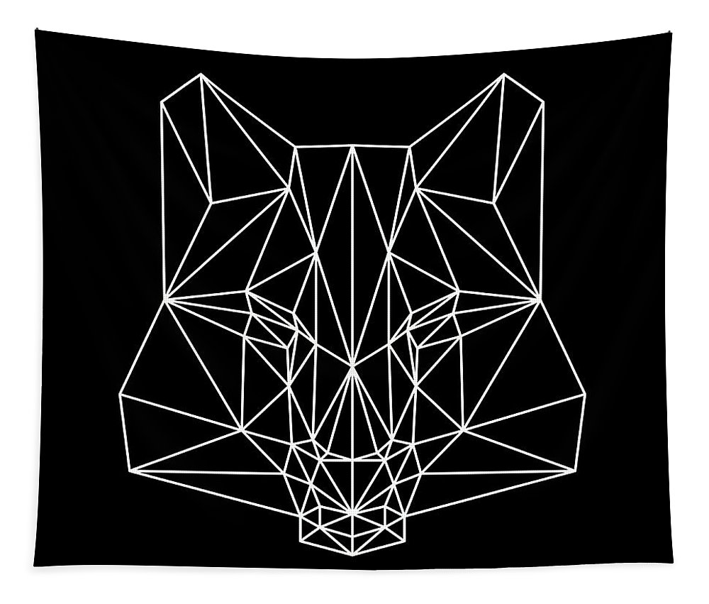 Fox Tapestry featuring the digital art Night Fox by Naxart Studio