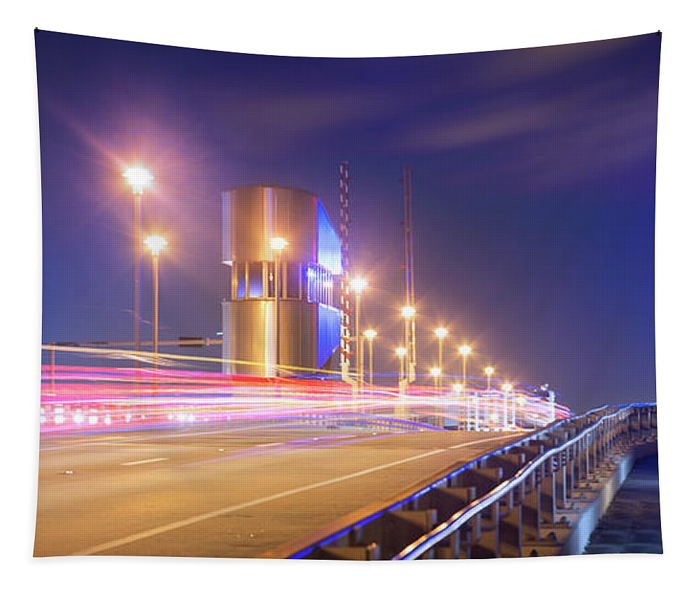 Traffic Tapestry featuring the photograph Night Transit by Mark Andrew Thomas