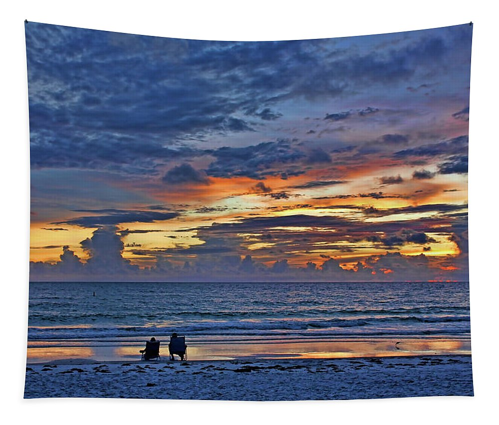 Beach Tapestry featuring the photograph On A Quiet Beach With You by HH Photography of Florida