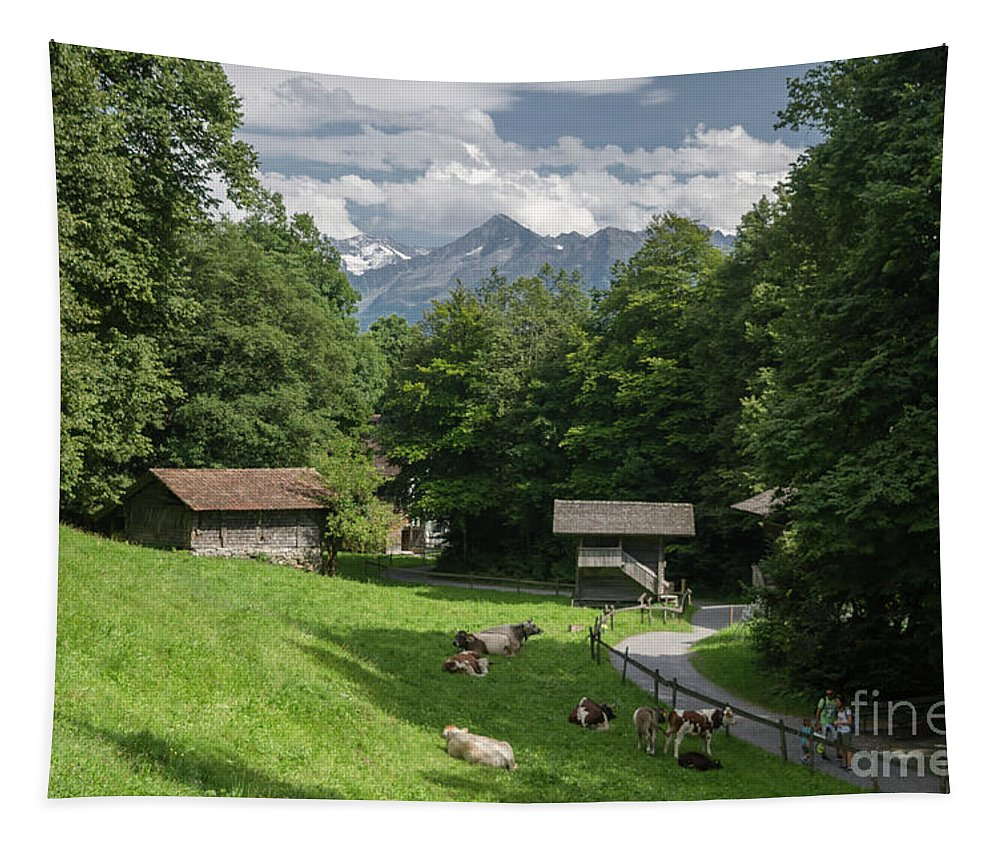 Michelle Meenawong Tapestry featuring the photograph one afternoon in Ballenberg by Michelle Meenawong