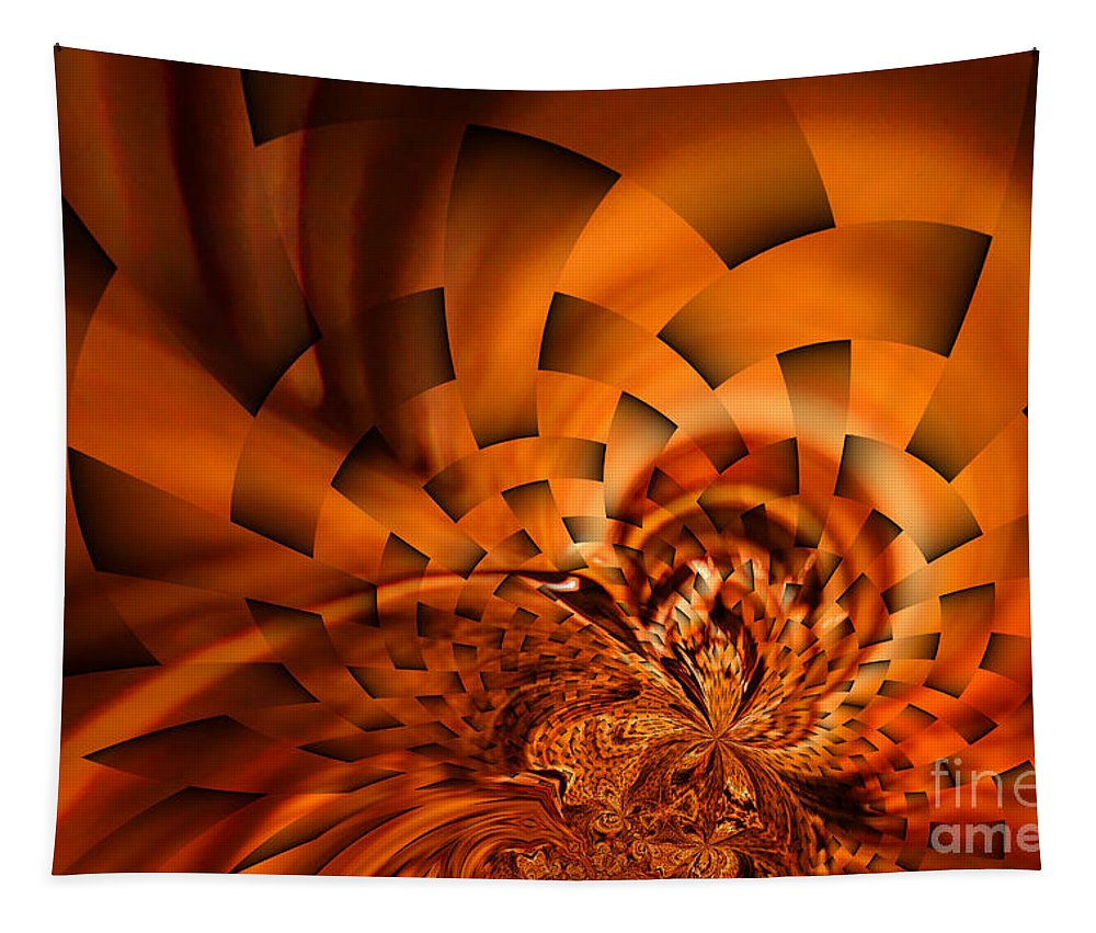 Abstract Tapestry featuring the photograph Orange Weave by Jeff Swan