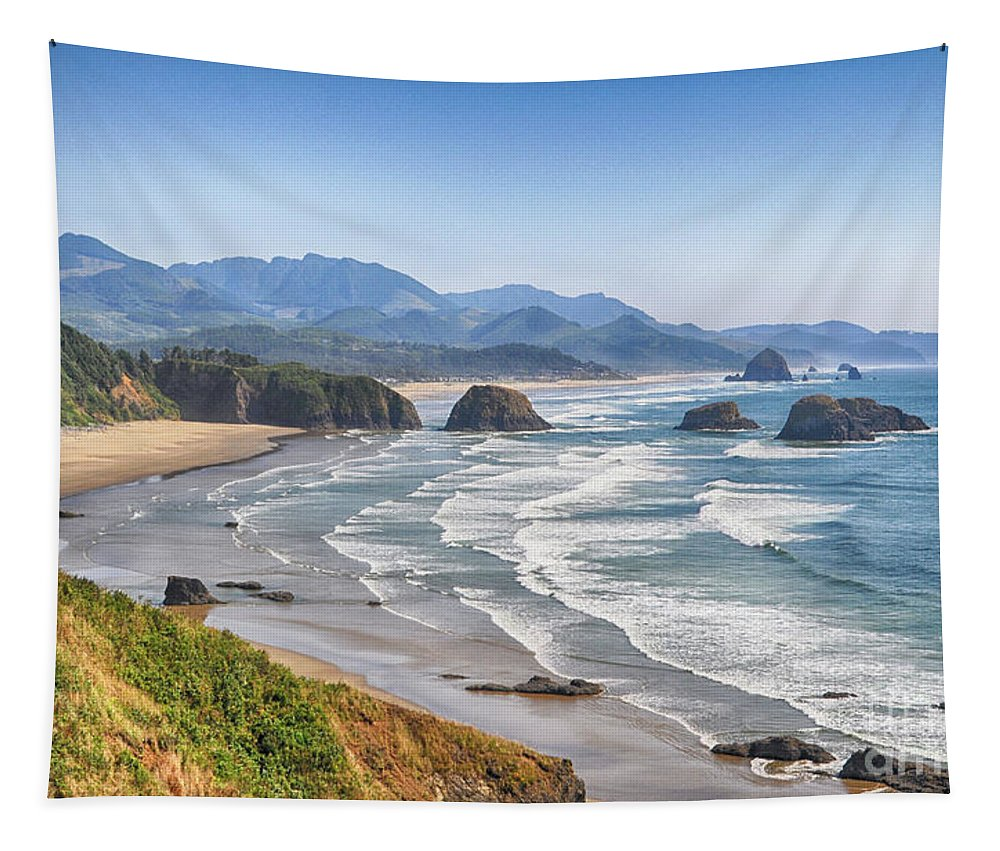 Landscape Tapestry featuring the photograph Oregon Coastline by Julia Telligman