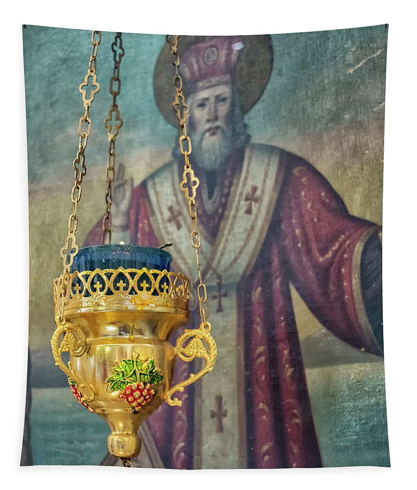 Orthodox Tapestry featuring the photograph Orthodox Icon by Nina Ficur Feenan