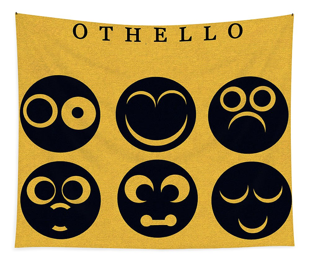 Othello Tapestry featuring the digital art Othello Minimalsim Cover Art by David Lee Thompson