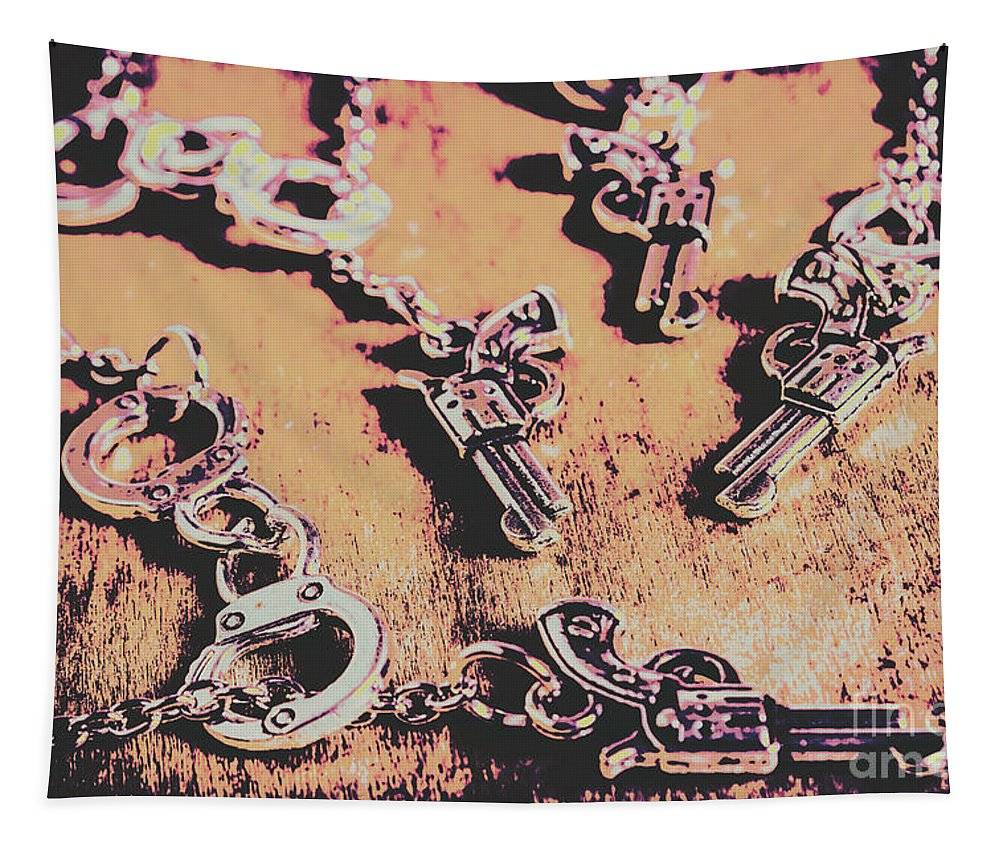 Wild West Tapestry featuring the photograph Outlaw Frontiers by Jorgo Photography - Wall Art Gallery
