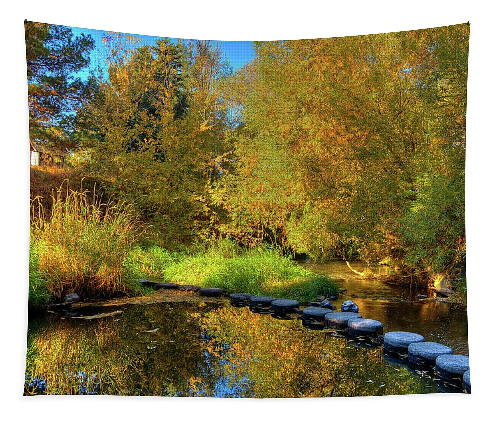 Palouse River Reflections Tapestry featuring the photograph Palouse River Reflections by David Patterson