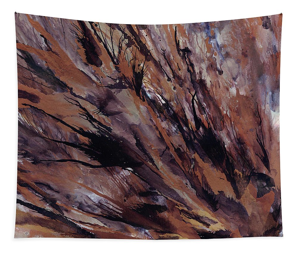 Copper Tapestry featuring the painting Petrified Wood by Kristin Hager