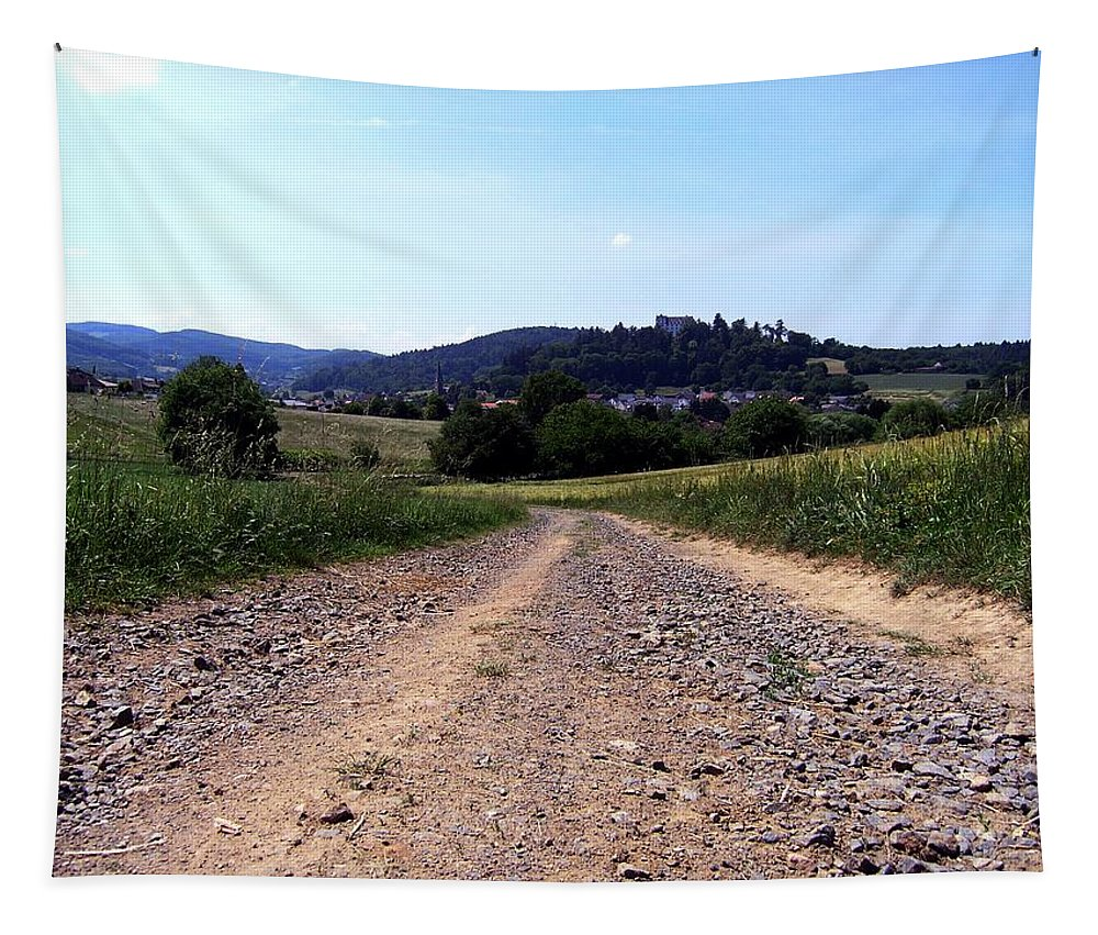 Photo Tapestry featuring the photograph Photography Landscape Shot Of A Path by PM Artistic