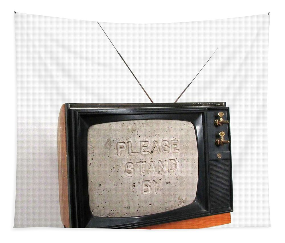Czappa Tapestry featuring the sculpture Please Stand by by Bill Czappa